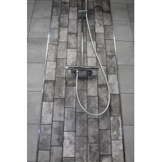 Country Graphite brick effect wall tiles